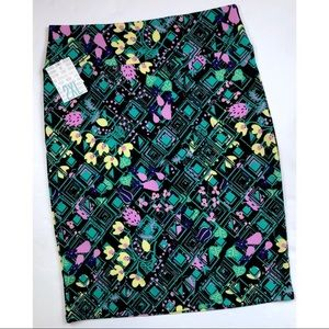LulaRoe Cassie Skirt Floral Print Size 2XL NWT